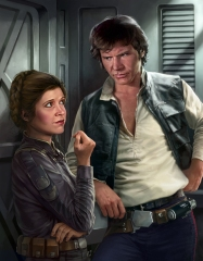 Leia Organa and Han Solo - Source Wookieepedia
